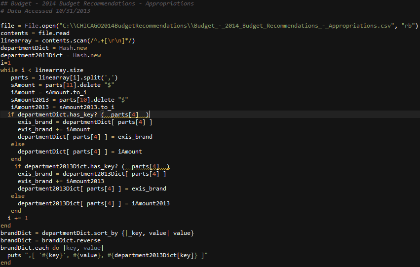 RubyFor2013vs2014