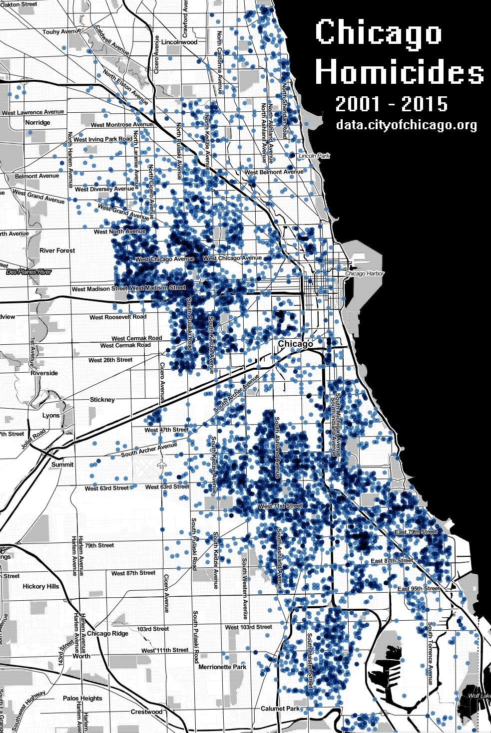 Chicago Murder Map | compressportnederland