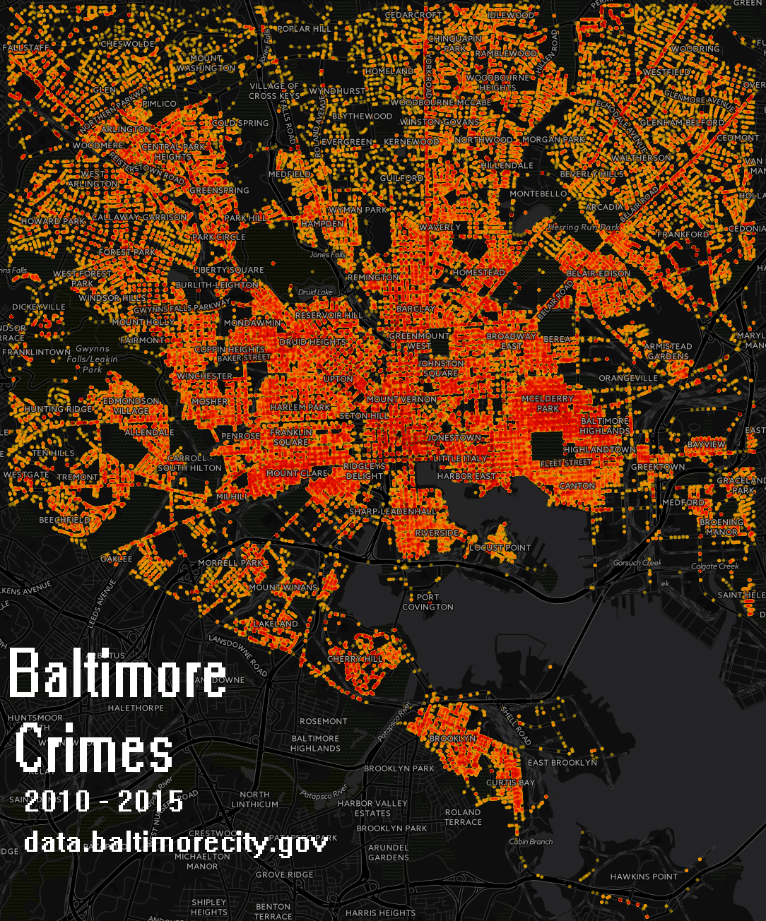 Baltimore Crimes Maps