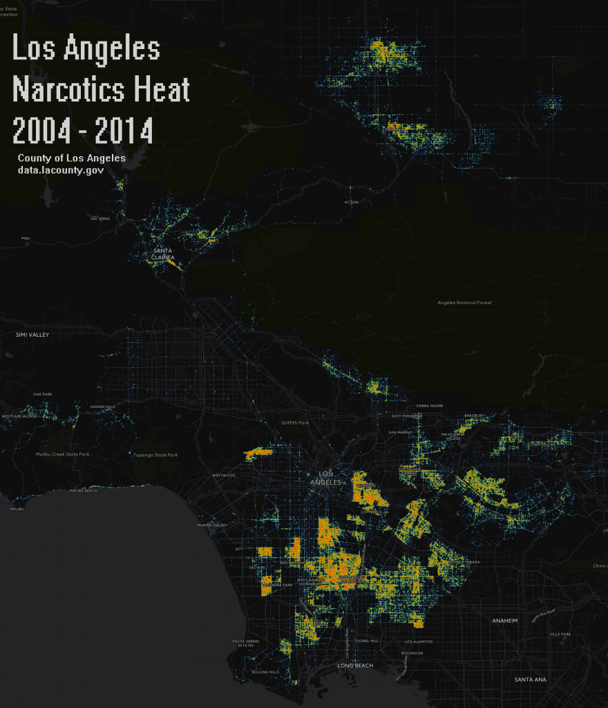 Los Angeles Narcotics Heatmap 2004-2014 - Copy