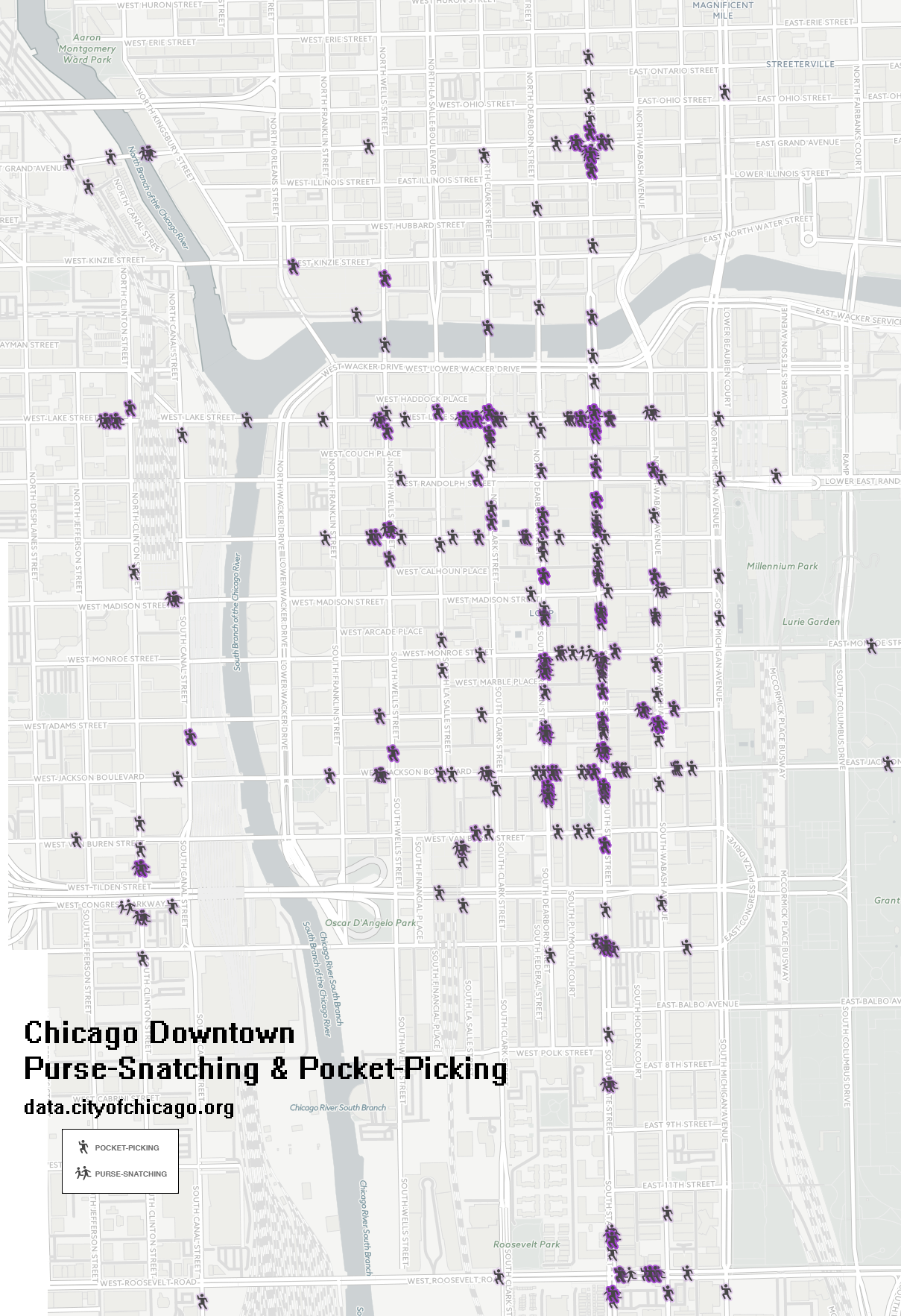 Chicago Downtown PurseSnatching and Pickpocket