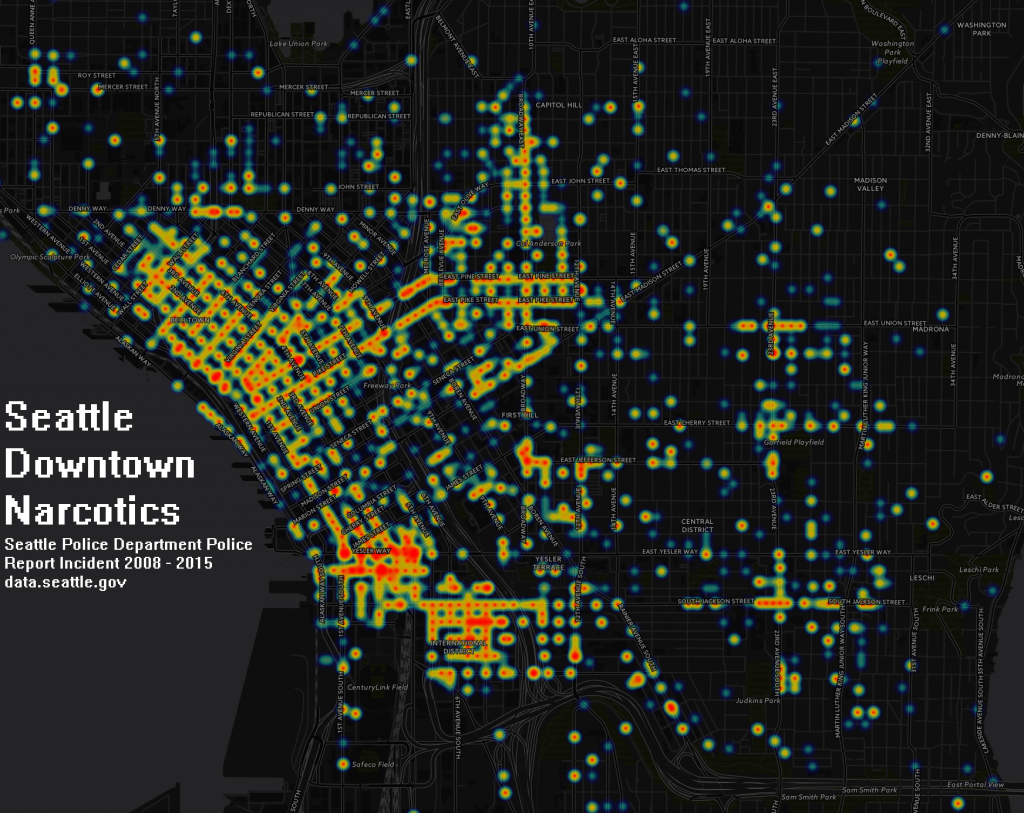Seattle Narcotics 2008-2016 heatmap FINALLabel