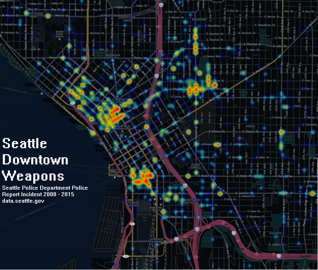 Seattle Police Weapons2008-2016 heatmap FINAL LABEL