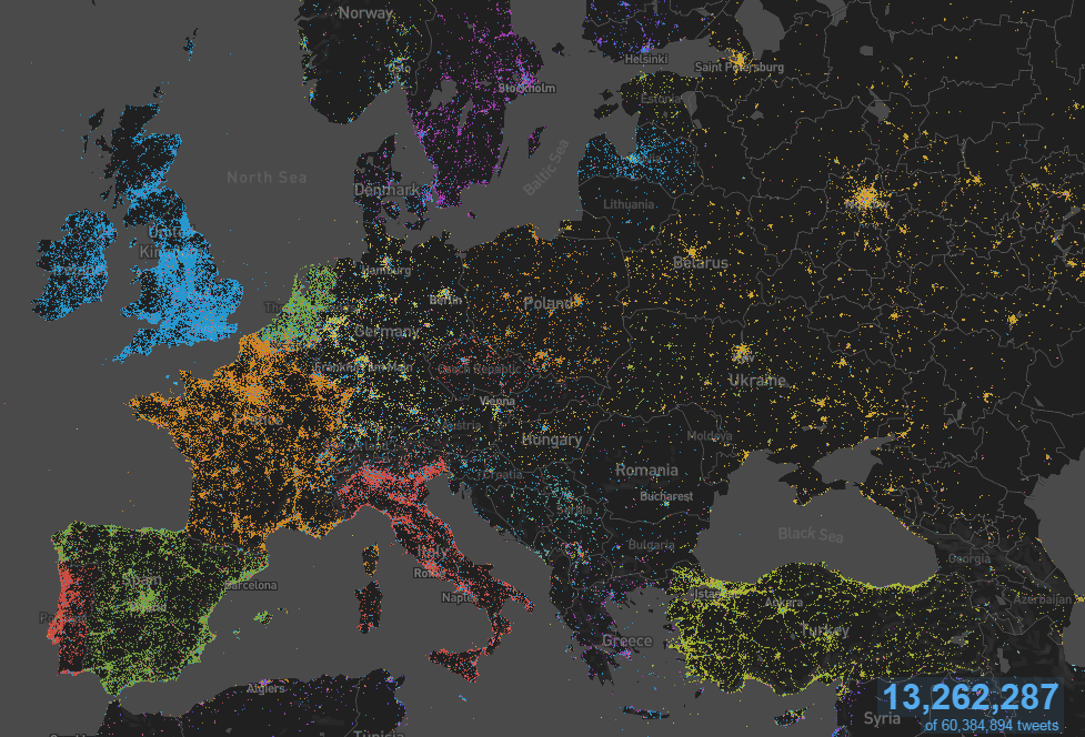 europe tweetmap