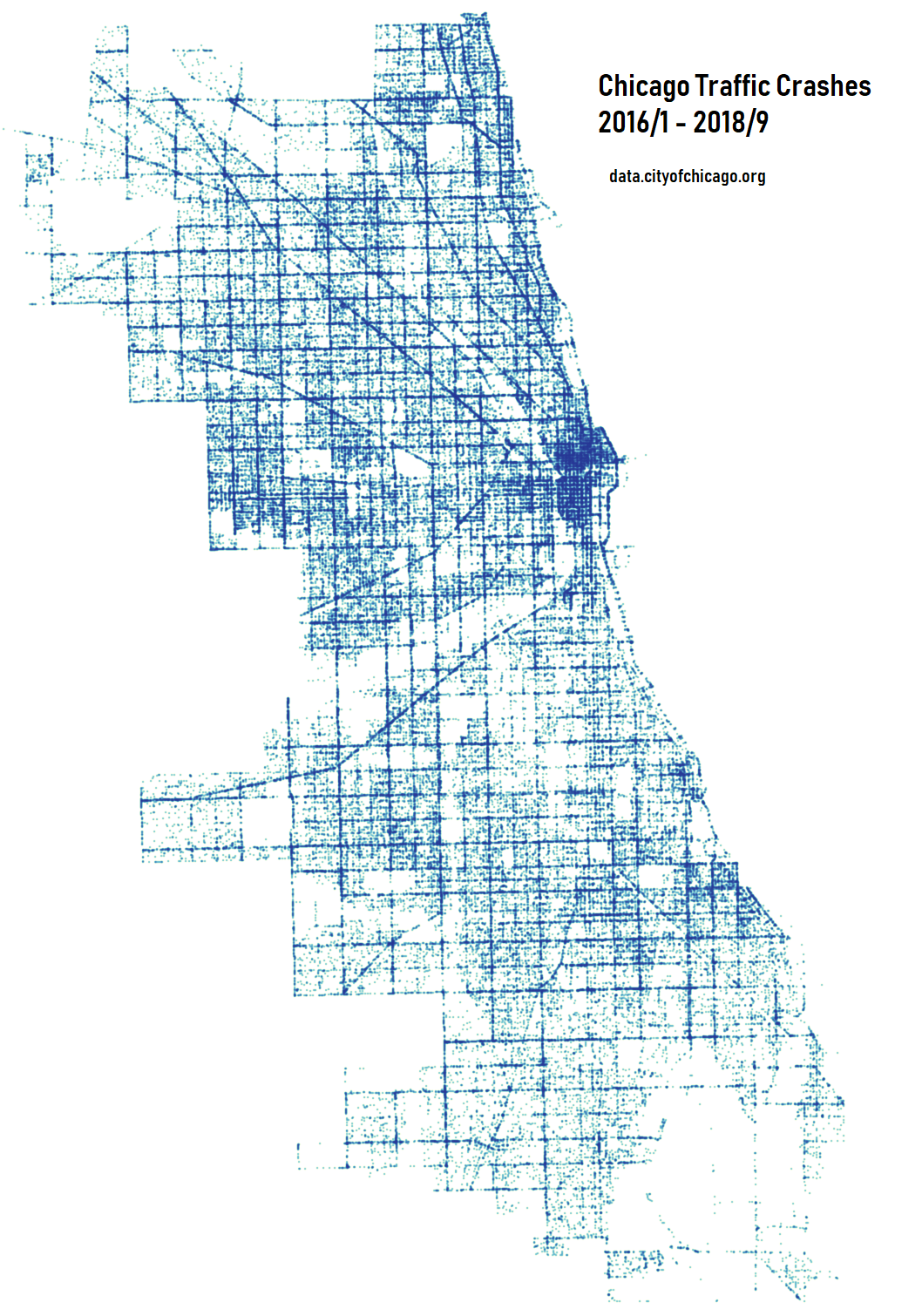 Map Of Chicago Created By Traffic Crashes 2016 2018